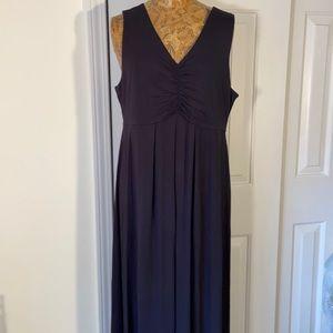 Black Talbots Maxi Jersey Knit Dress